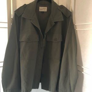 XL Universal thread frey hem army green jacket